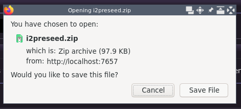 Downloads a Reseed Zip