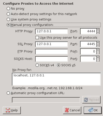 Web Browser Configuration - I2P
